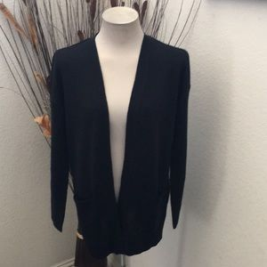 NWOT Divided Black Open Front Pocketed Cardigan